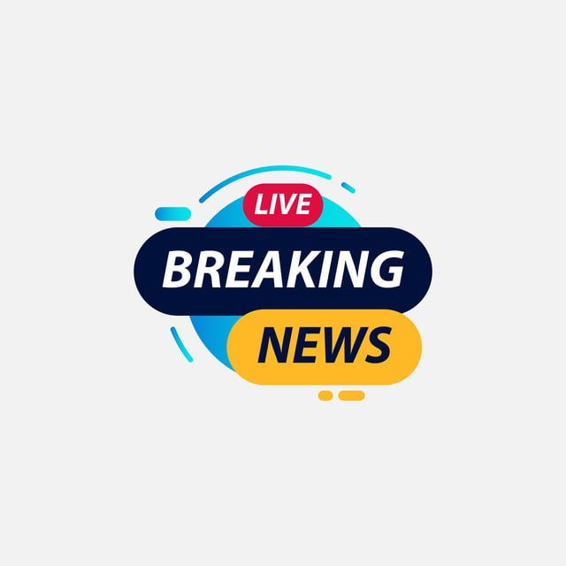 Breaking News Live Tv Label Logo Vector Template Design Illustration Vector And Png Vector Logo Download Business Card Happy New Year Text