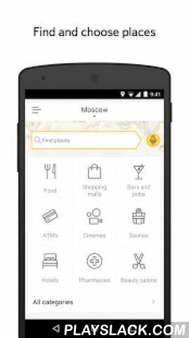 Yandex.City  Android App - playslack.com , Yandex.City helps you search for and select places to go in your city. No matter what you're looking for – be it beauty salons that offer massages, 24-hour pharmacies, or even karaoke bars – this app will help you find the right place.The best places closest to youTell us where you want to go (via your voice or keyboard) and Yandex.City will show you the nearest locations with the best ratings.Choose your settingsSort through the results with…