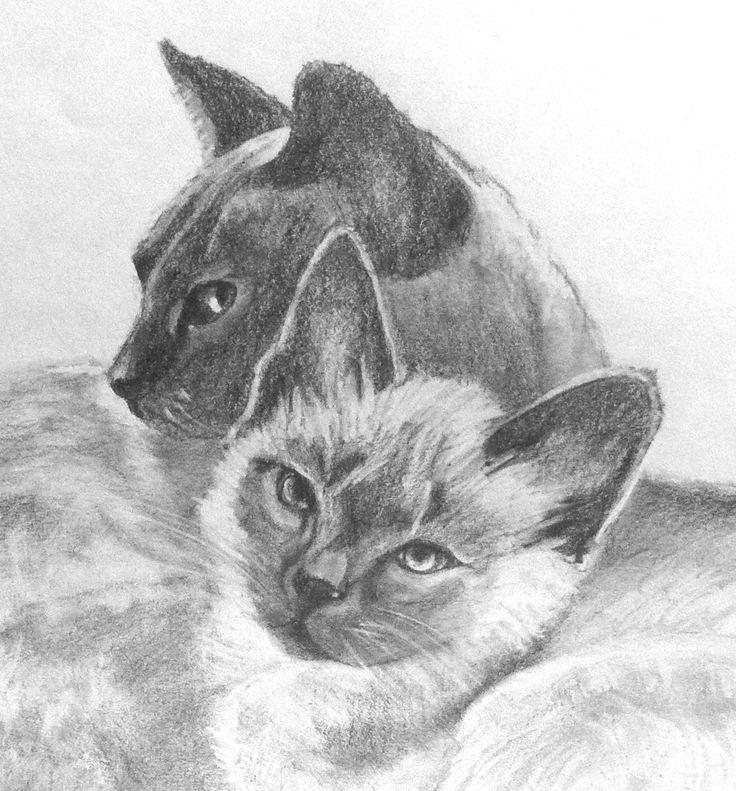 Mother and Daughter - pencil drawing  ~~ Susan Becker