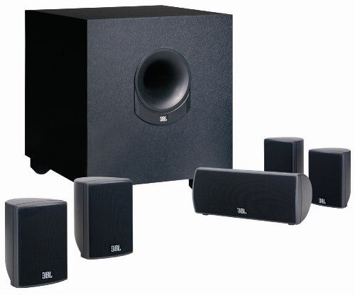 Home Theater Systems - JBL SCS145.5 Home Cinema Speaker Package with Powered Subwoofer (Set of 6)