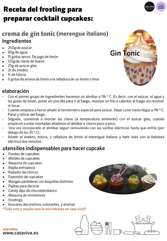 Receta del taller de cocina de Casa Viva: cocktail cupcake de Gin Tonic. ¡Toma nota y equípate de los gadgets de cocina necesarios! #cupcake #cupcakes #cocktailcupcake #GinTonic #TallerCasaViva