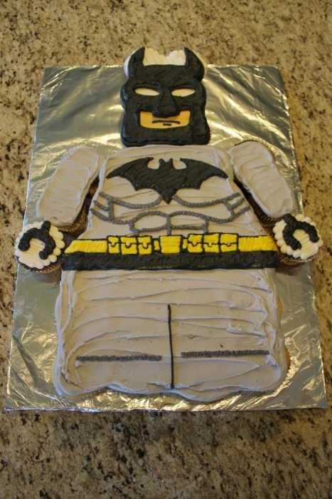Batman Lego Cupcake Cake   www.lahootbakery.com
