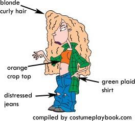 Plaid is super in these days so dressing up as Debbie Thornberry would be a totally cool idea!