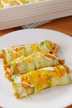 Zucchini Enchiladas minus the cheese