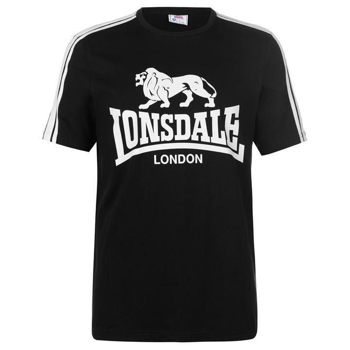 LONSDALE regular hooded sweatshirt Wolterton NERO BLACK MEN