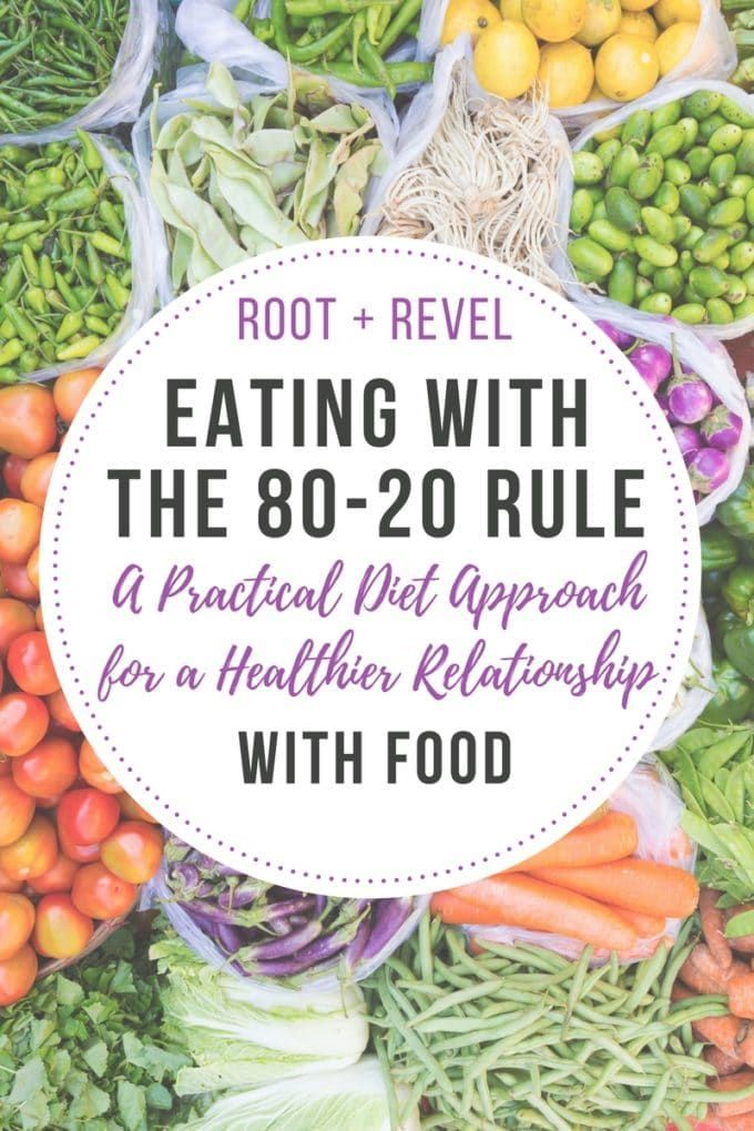 The 80-20 rule is a practical approach to following a clean eating diet that will help you create a healthier relationship with food.