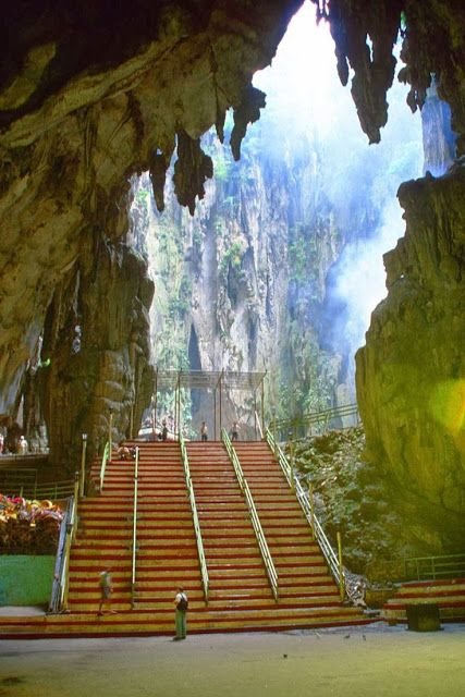 Batu Caves - Kuala Lumpur, Malaysia...i guess next time i pass through the airport, i should leave it?