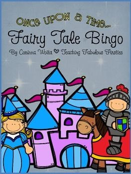 """Here is a quick and easy Fairy Tale Bingo Game for you to enjoy with your class!  Each student cuts out and arranges their pictures on their board so every board is unique.Thank you for your support!  If you enjoy this freebie, I'd love it if you would consider """"following"""" my TpT store!"""