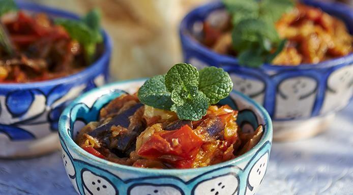 Zaalouk (Insalata di melanzane e pomodori dal Marocco)