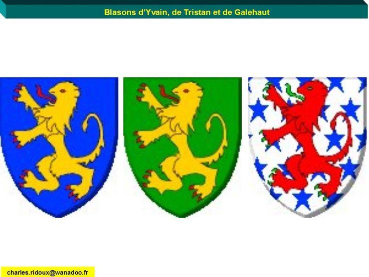 Lion shields of sir yvain sir tristan and sir galehaut - Les chevalier de la table ronde ...