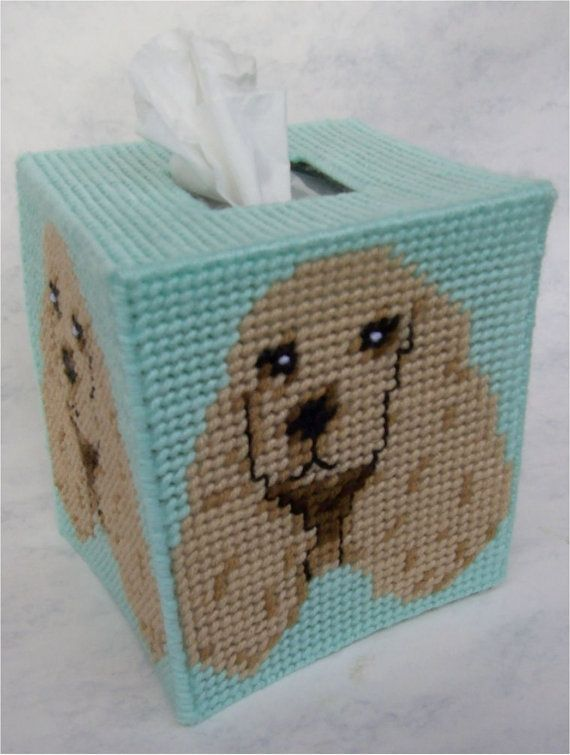 COCKER SPANIEL Boutique Size Tissue Box Cover by NiftyStitches4U