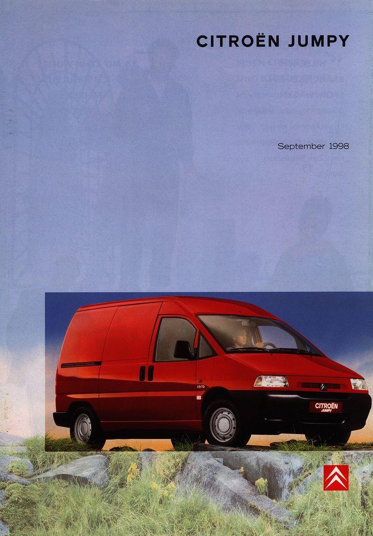 https://flic.kr/p/FciZHX | Citroen Jumpy; 1998_1 | front cover car brochure by worldtravellib World Travel library