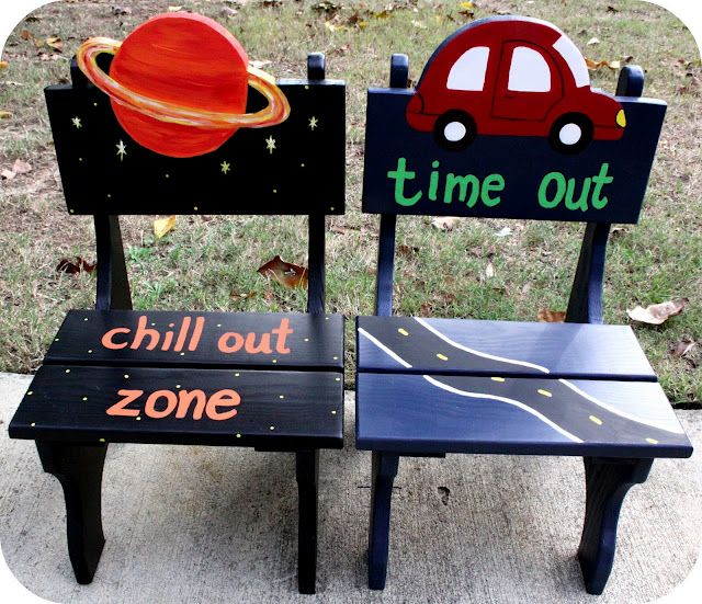 custom time-out chairs by Trendy Toolbox