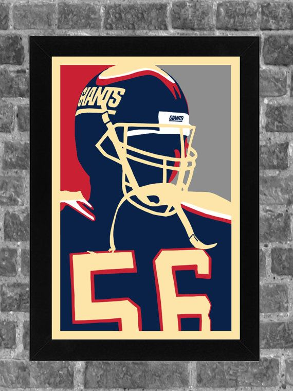 New York Giants Lawrence Taylor Portrait Sports by FanFourLife