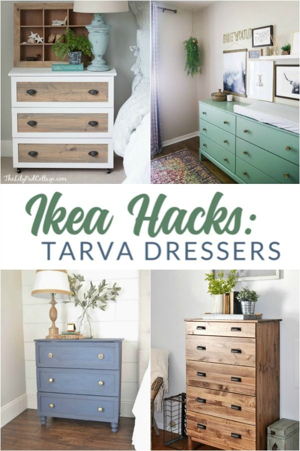 12 Gorgeous Ikea Tarva Hacks Decoracion De Tocador Decoracion