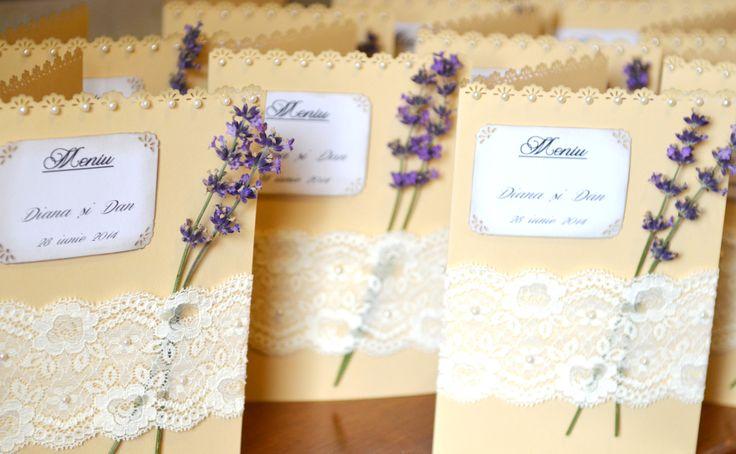 Lavender wedding menu