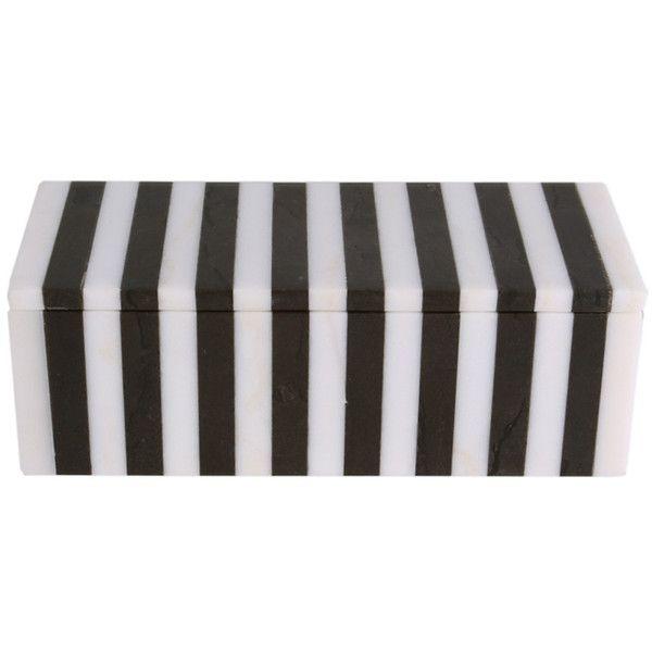Kelly Wearstler Striped Box found on Polyvore