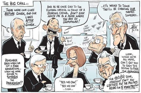 THE BIG CHILL Cartoon by DAVID POPE.