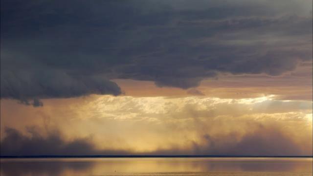 Lake Eyre in central Australia
