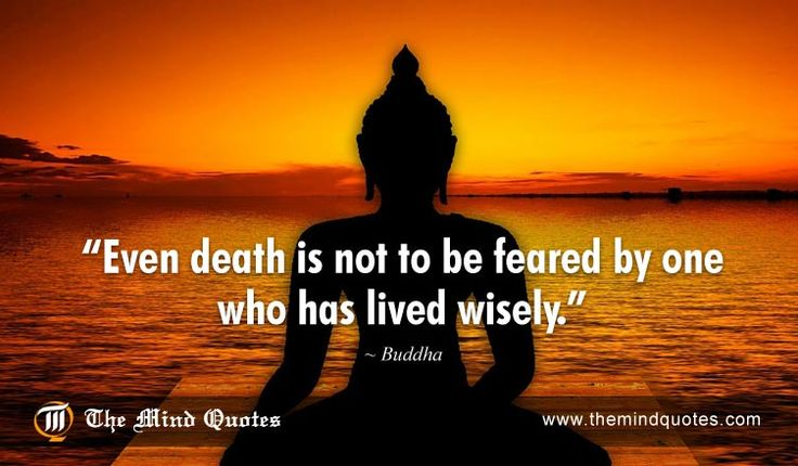Even #death is not to be feared by one who has lived wisely.#Buddha Quotes on Death and #Fear. Read, Think and Share on theMindQuotes