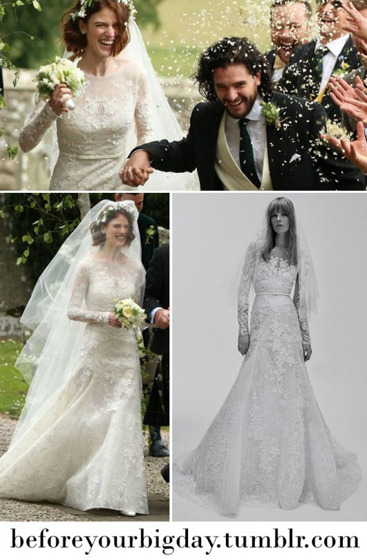 Rose Leslies Wedding Gown In 2019 Long Sleeve Gowns And