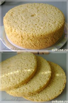 Высокий, нежный бисквит для торта (без духовки) RETSEPT: http://i.ovkuse.ru/blogs/kulinarija/vysokii-nezhnyi-biskvit-dlja-torta-bez-duhovki.html