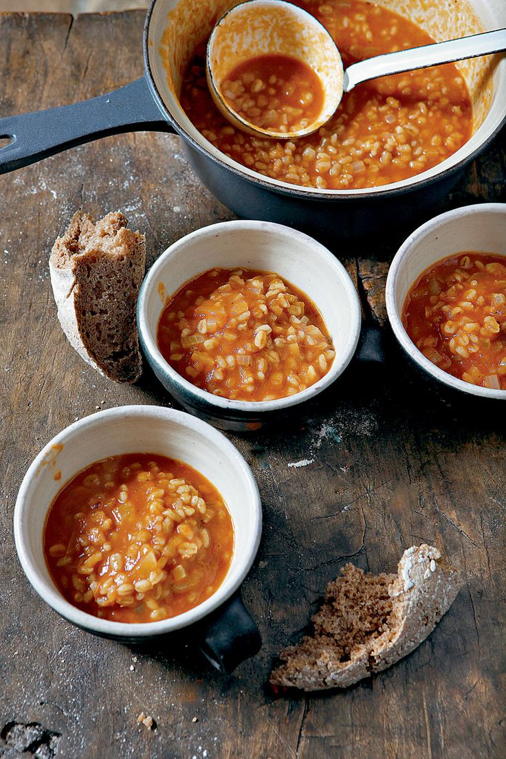 Hugh F-W's barley, onion & tomato soup looks like the perfect recipe for the summer-autumn transition