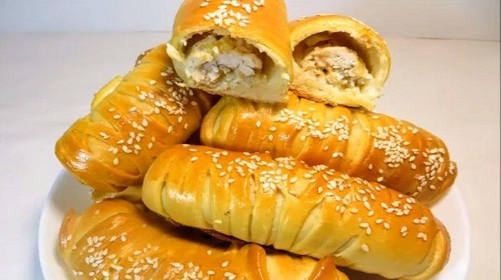 Красивые и обалденно вкусные булочки с курицей и сыром: не успевают остывать