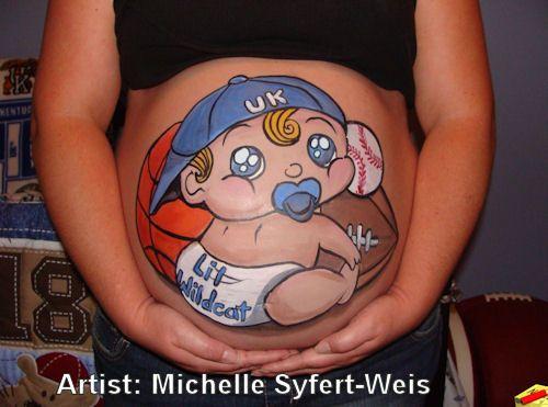 body paint pregnant - Buscar con Google
