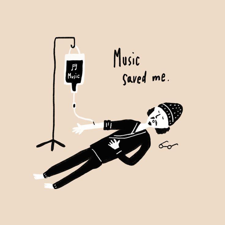 音楽はいつも私を救ってくれる。/Music saved me.