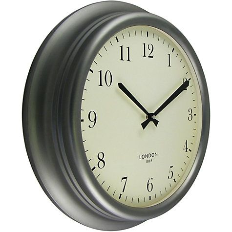 Buy John Lewis Croft Winchester Large Wall Clock Grey Online At Johnlewis