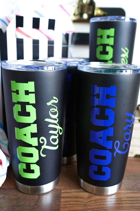 Coach Thank You Gift Stainless Steel Tumbler by JustSayinTotes
