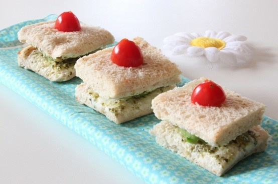 Cucumber and cream cheese sandwiches ... perfect to serve with tea