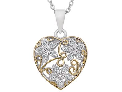 All you need for the perfect V-Day gift is a little heart... like this adorable heart-shaped white gold pendant, guaranteed to melt hearts everywhere you go!