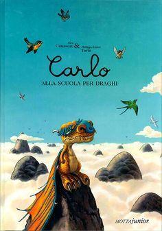 Carlo è un piccolo drago con due enormi piedi e una spiccata vena poetica.