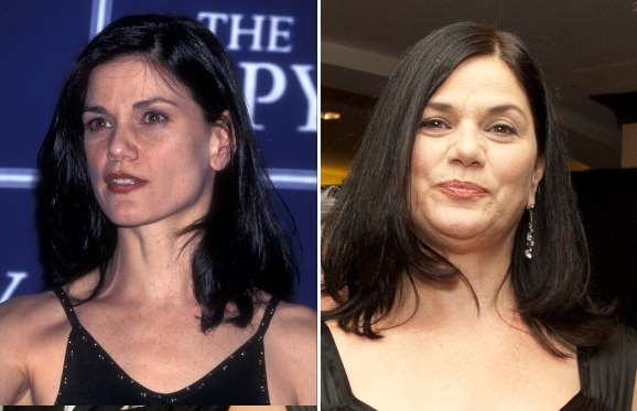 Linda Fiorentino (1998 and 2010) - Ron Galella, Ltd./WireImage; Kris Connor/Getty Images