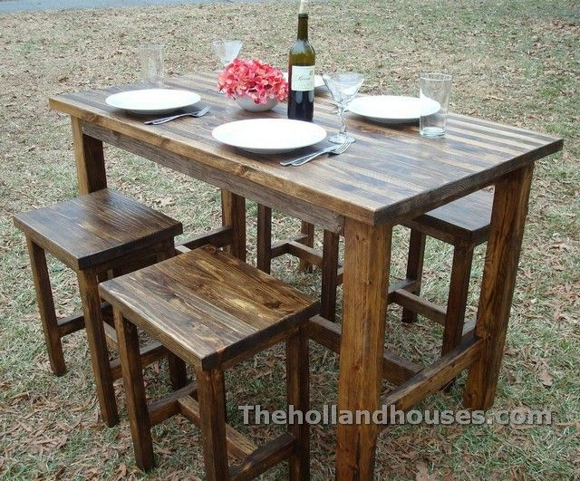 Rustic Bar Height Table And Chairs