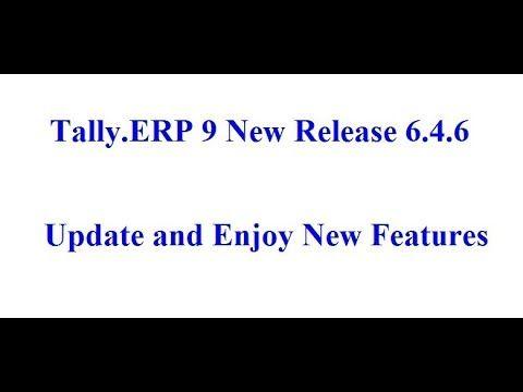 tally erp 9 release 6 4