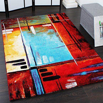 Tappeto Moderno Multicolour Splash Tela Tappeto Di Design A Quadri Colorato, Dimension:120x170 cm