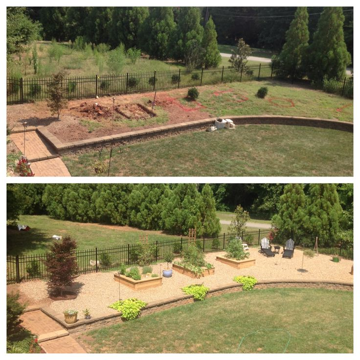 Renovated awkward space into raised bed, gravel garden.