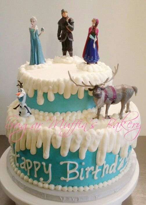 Frozen Themed Birthday Cake Images