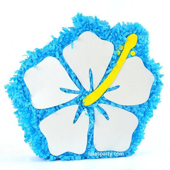 Hawaiian Pinata | Hibiscus Flower Pinata | Luau Pinata | Birthday Party Theme | Party Decoration and Game | Summer and Beach Fun!