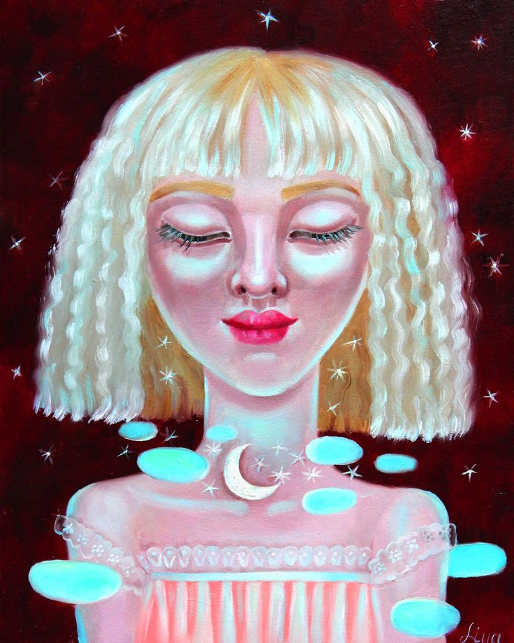 Moonlight dreams  #illustration #paiting #artwork #oilpainting #moonlight #fantasy