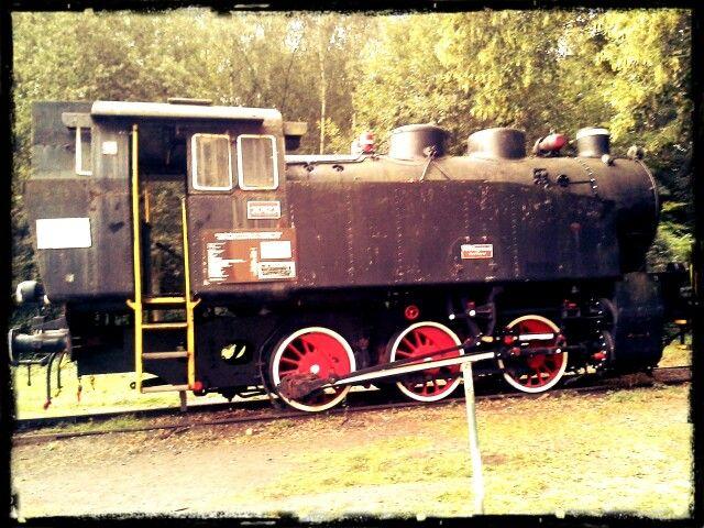 Hned u pokladny je možné vidět tuhle krásnou lokomotivu užívanou pro transport uhlí