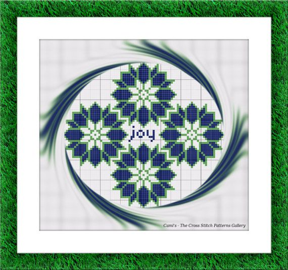 Joy Cross stitch pattern Cross stitch by CamisTheCrossStitch