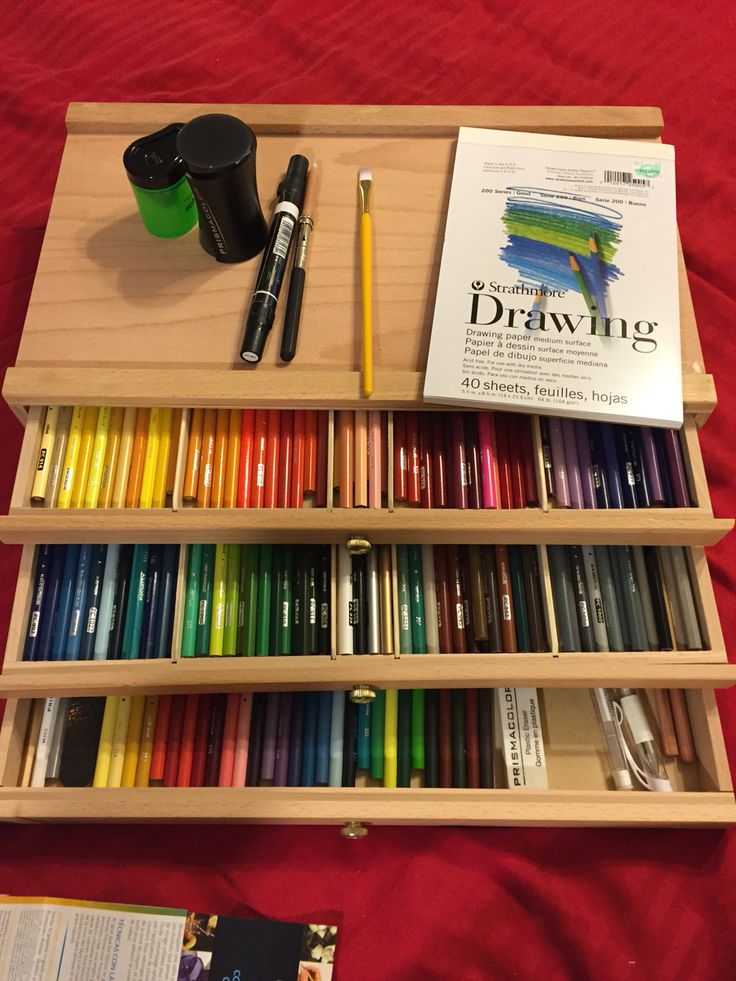 Pin By Julie Kehm On Adult Coloring With Different Mediums Colored Pencil Storage Art Desk
