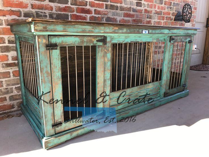 1000 ideas about dog kennel inside on pinterest diy dog for Indoor double dog kennel