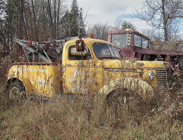 Old Chevy Tow Truck Flickr Photo Sharing Trucks Antique Trucks Junkyard Cars