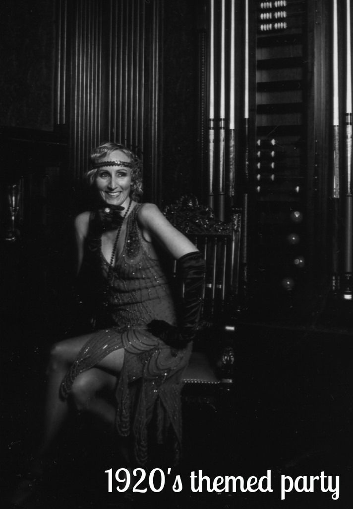 1920's themed party. The menu, costumes (#flapper dresses) and decor.
