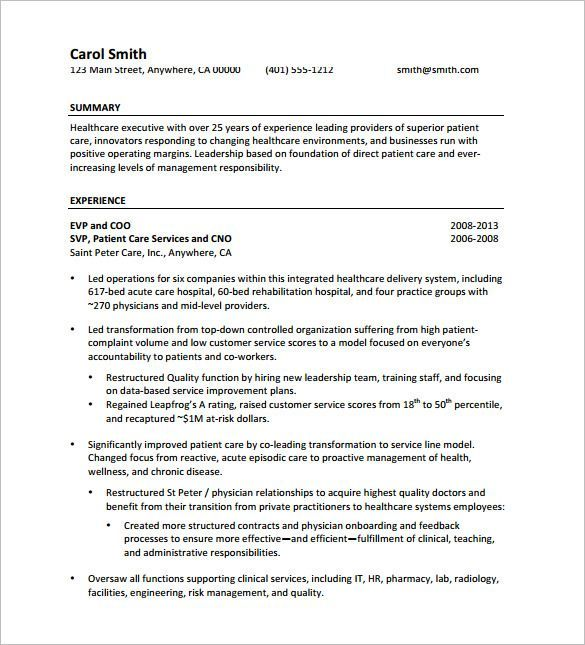 The  Best Executive Resume Template Ideas On